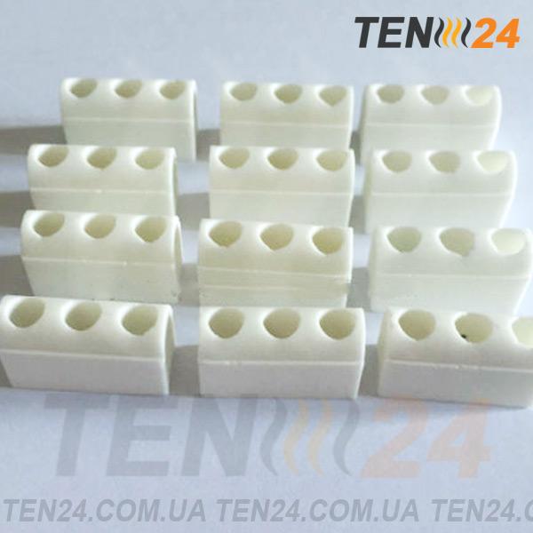 Керамические изоляционные модули стеатитовые для ленточных нагревателей